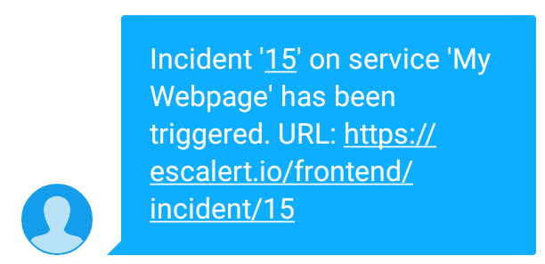 Example Incident By Text